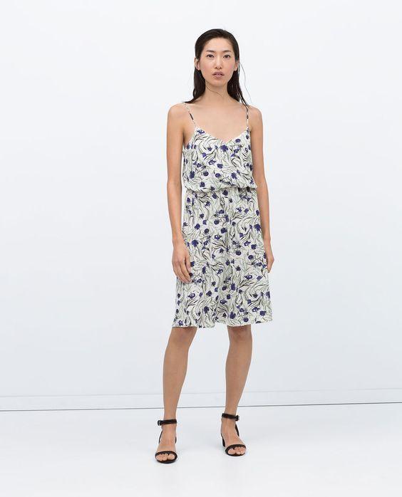 ZARA - NEW THIS WEEK - FLORAL DRESS
