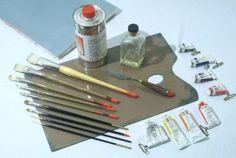 """Aprender a pintar al óleo: los primeros pasos"""" materiales para aprender a pintar al óleo"""