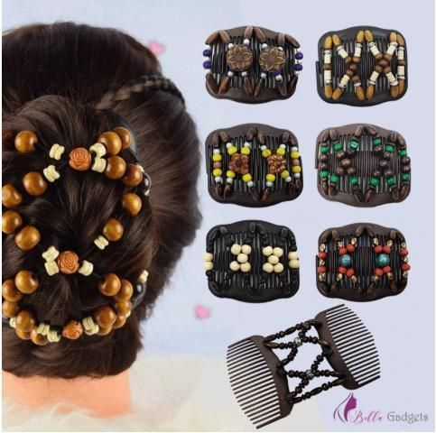 2pcs Magic Stretch Hair Comb Cccinlife Com In 2020 Magic Hair Hair Comb Antique Hair Combs