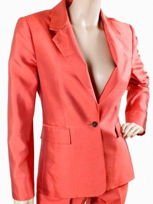 Michael Kors Suit - Red Silk Shantung Pant Suit $594.: