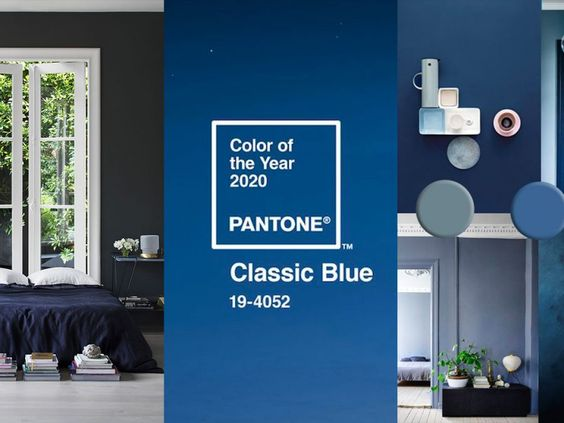 Blue interior trend | Paint and home decor in Classic blue Pantone 2020