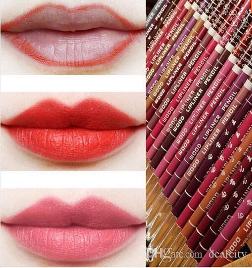 Fashion Brand Multi Colors Waterproof Lip Liner Women Beauty Makeup Tools Lipliner Pencil Lip Crayons Lip Pencils From Dealcity, $0.63  Dhgate.Com