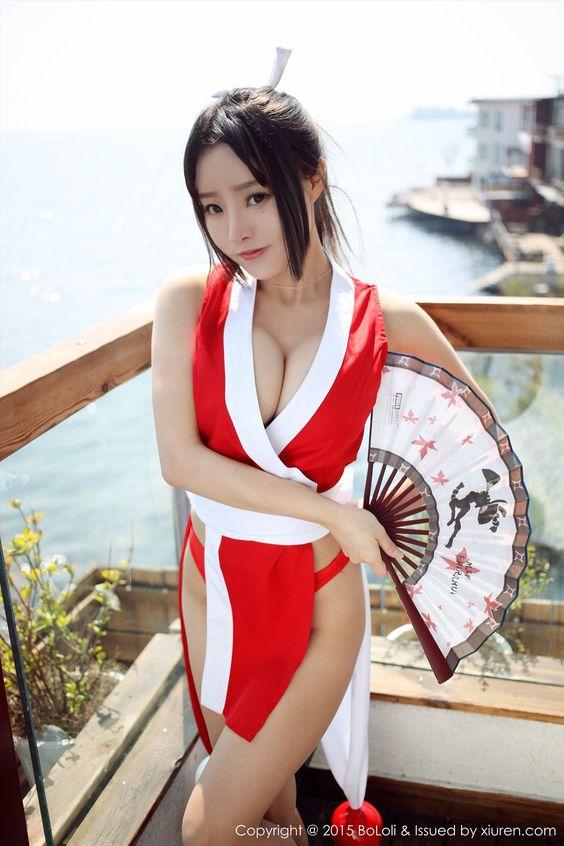 中国人美少女コスプレイヤー 柳侑绮ちゃんのエロすぎる体が抜ける「不知火舞」コスプレ画像 - エロコスプレ