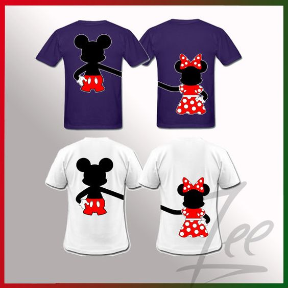 Mickey And Minnie Couples Shirts Mickey and Minn...