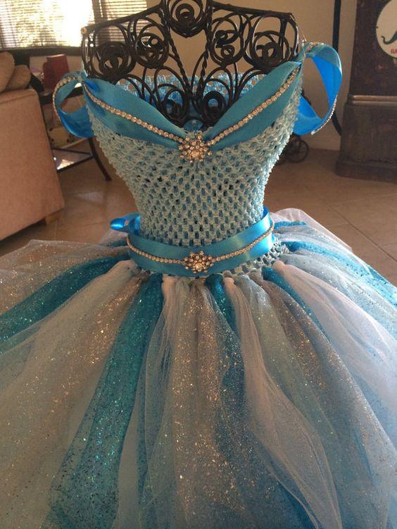 Frozen Inspired Tutu Dress-  Princess Elsa on Etsy, $100.00: