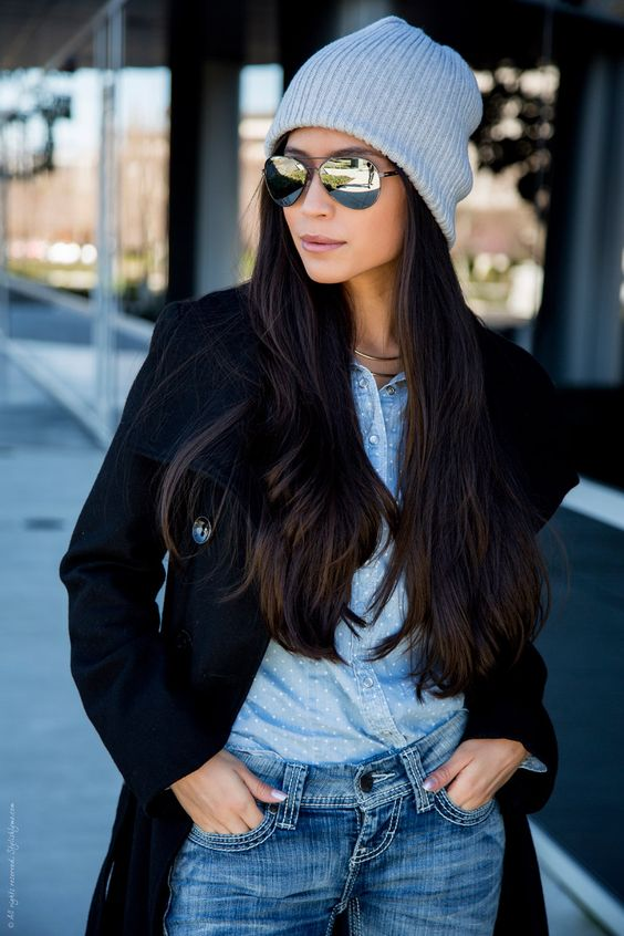 Beanie and Aviators Outfit - Stylishlyme