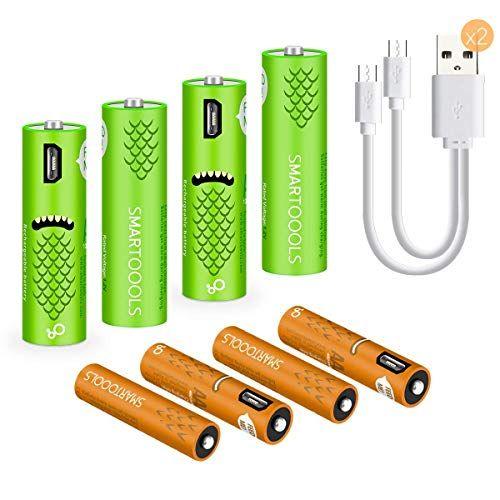 Usb Rechargeable Batteries 1000mah Aa Batteries And Aaa B Https Www Amazon Com Dp B07rw813d6 Ref Cm Sw R Pi Dp U Usb Rechargeable Usb Household Batteries
