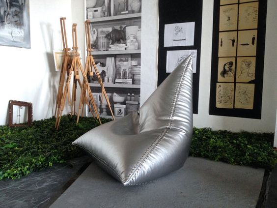 Stuhl Flieger Bohne Beutel Stühle  echt Leder von HomeAtmosphere