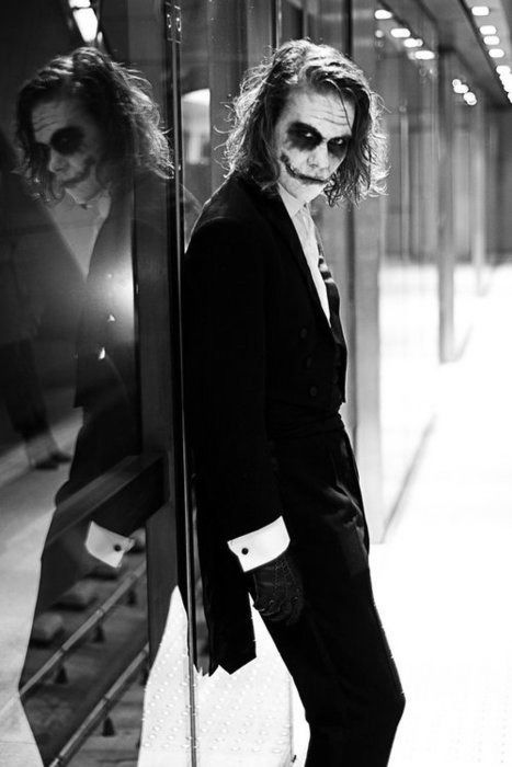 The Joker (Heath Ledger) -  'The Dark Knight', 2008, directed by Christopher Nolan. °: