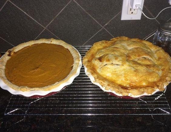 #apple and #pumpkin #pie #homemade #fromscratch #local #hosting #grateful #thankful #firsttime #2016 #thanksgiving #baking
