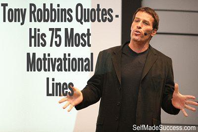 Tony Robbins Quotes - His 75 Most Motivational Lines http://selfmadesuccess.com/tony-robbins-quotes-motivational/  #quotes #quote #inspiration #motivation