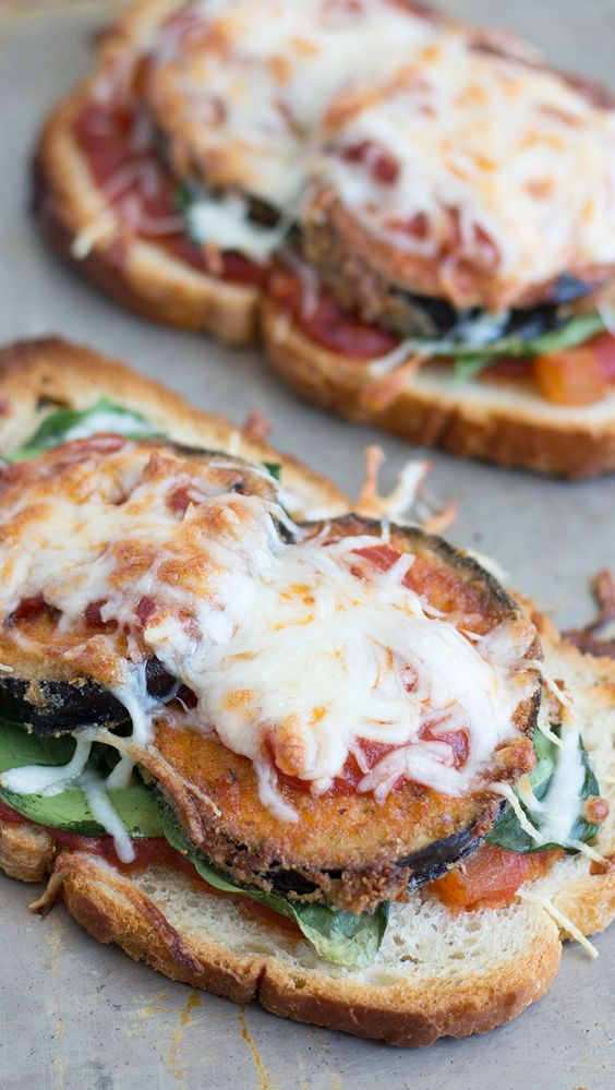 Eggplant Parmesan Toast: This Italian-inspired toast makes for a ...