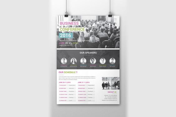Conference Flyer Template Flyer template, Creative design and - conference flyer template