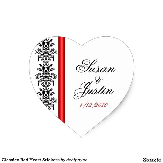 Classico Red Heart Stickers: