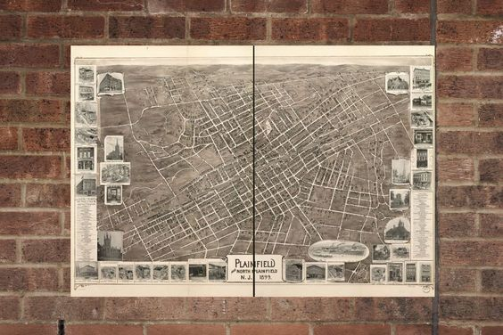 1908 Ocilla Georgia Vintage Old Panoramic City Map 18x24