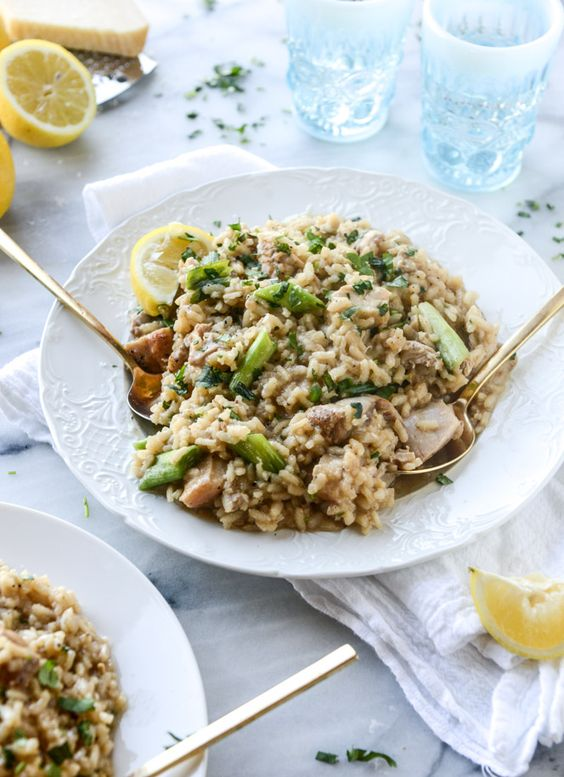 lemon chicken risotto I howsweeteats.com