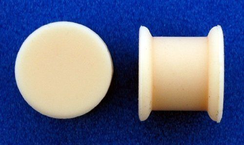 Flesh Color Silicon Plugs - 00g, 11mm long - Sold as a Pair WickedBodyJewelz - Plugs - Silicone. $9.00