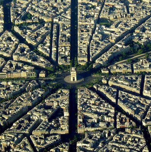 Place de l'Etoile, Paris, France.
