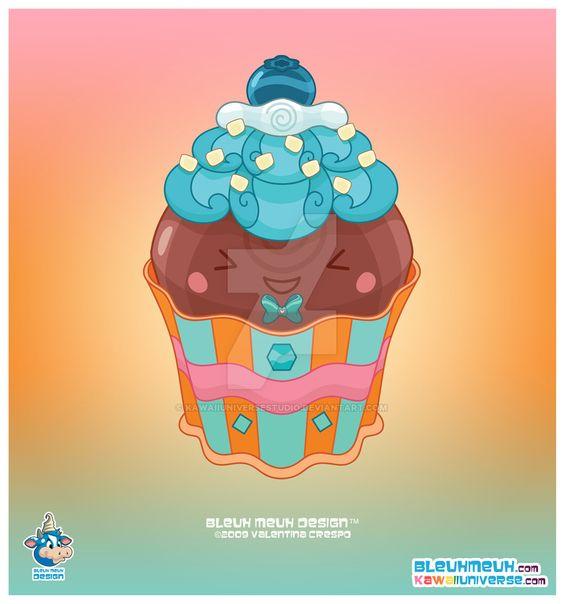 Kawaii Bittersweet Cupcake by KawaiiUniverseStudio.deviantart.com on @DeviantArt
