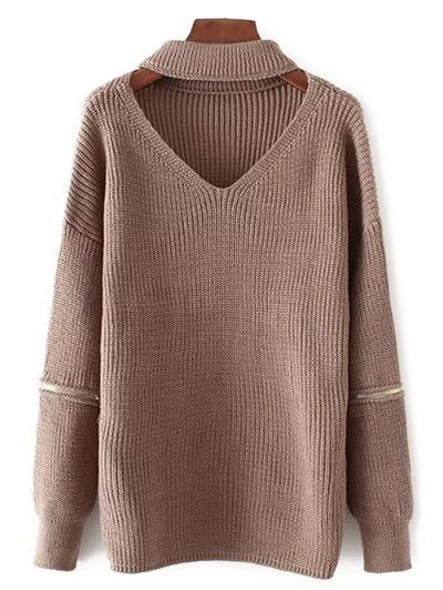 Only $21.49 for Cut Out V Neck Oversized Sweater