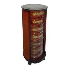 Cheung's Rattan Imports Wooden 7 Drawers Round Tall Chest (Lined)