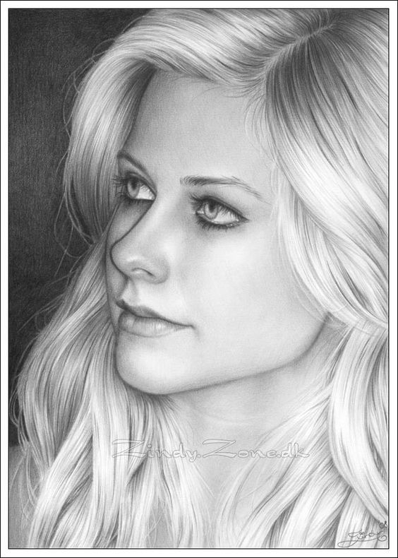 """Awesome draw of AvriL Lavigne. Congratulations to the Artist """"Zindy Zone"""""""