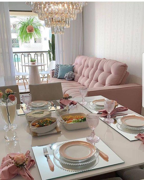 Decorar Sala Com Sofá Rosa?