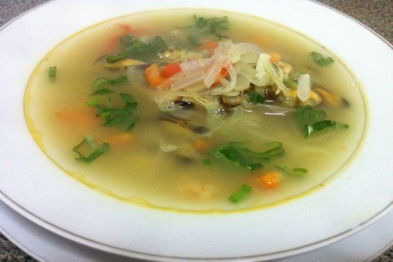 Receta: Sopa de mariscos - cookcina