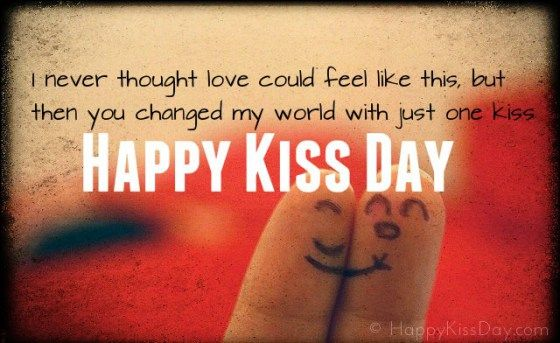 Happy Kiss Day Wishes Greeting Picture Image Card Text