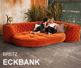 Bretz Sofa Sessel Und Tisch Kaufen Bretz Designsofas Von Bretzshop De Orange Sofa Unique Living Room Furniture Floor Seating Living Room