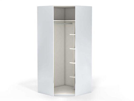 Angle 1 porte 100 cm NO LIMIT coloris blanc - Vente de Armoire - Conforama