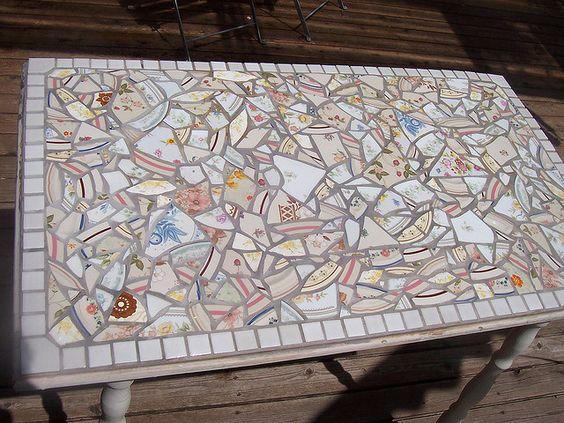 garden broken tile mosaic - Bing Images