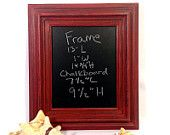 Christmas Red Framed Chalkboard Rustic Christmas Chalkboard - pinned by pin4etsy.com