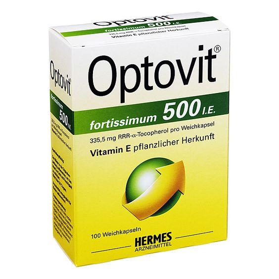 Optovit® fortissimum 500 I.E., 100 St | PZN: 6649629 | WIRKSTOFF: RRR-alpha-Tocopherol | HERSTELLER: HERMES Arzneimittel GmbH | • Für den täglichen Vitamin-E-Bedarf bei Gelenkbeschwerden • Vitamin E pflanzlicher Herkunft >> http://www.juvalis.de/6649629/optovit-fortissimum-500-kapseln << #Apotheke #Arzneimittel #Medikamente #Vitamine