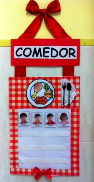 Señorita Gominola: Cartel de comedor.