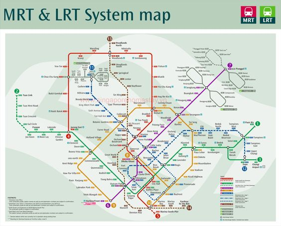 Các tuyến tàu điện ở Singapore