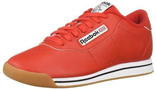 Reebok Women's Princess Sneaker, Techy redWhiteGum, 9 M US