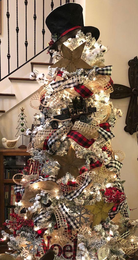 Easy Diy Rustic And Farmhouse Christmas Decorations Buffalo Check Christmas Trees Plaid Christmas Decor Christmas Tree Inspiration Christmas Fireplace Decor