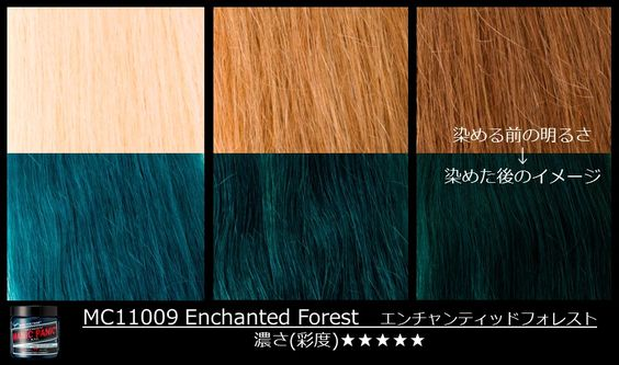 Enchanted Forest by Manic Panic on different levels of blonde. It also shows up pretty well on unbleached dark hair.