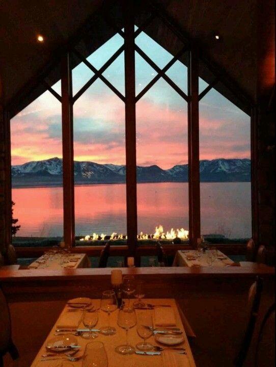 Dining At The Edgewood Restaurant In Tahoe On Valentine S Day Lake Tahoe Restaurants Tahoe Trip Lake Tahoe Trip