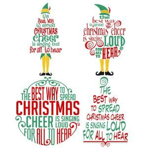 Christmas Cheer Elf Christmas Svg Cuttable Design  Free File