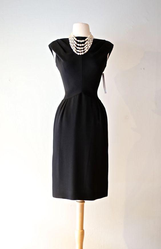 Vintage 1960s Audrey Hepburn Dress ~ Vintage 60s Little Black ...