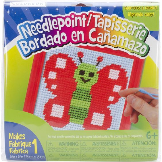 Colorbok Butterfly Learn To Sew Needlepoint Kit $4.99 {reg. $9.36}