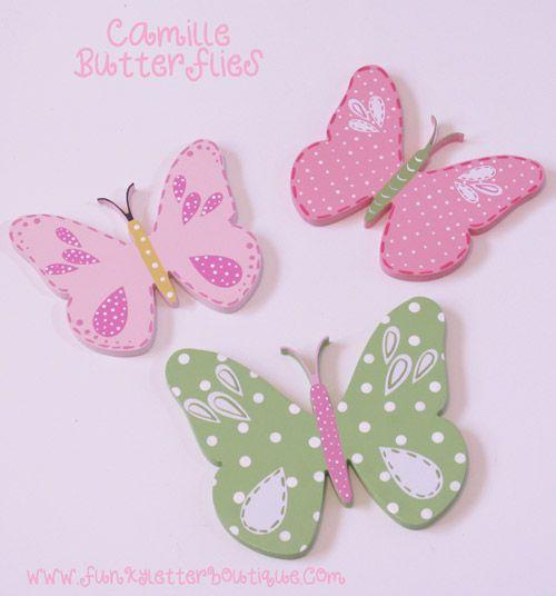 Pottery Barn Kids Camille Butterfly Wooden Nursery Wall