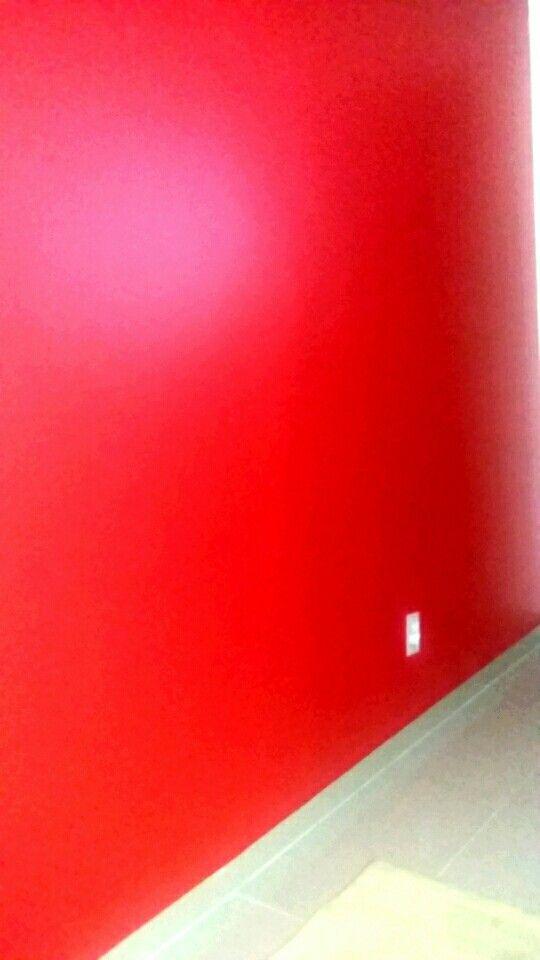Parede vermelha Juliana Rocha