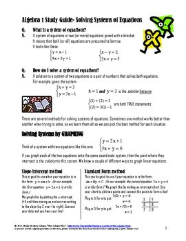 linear equation study guide Math placement test study guide  the test consists entirely of multiple choice  questions, each with five choices 3  solve systems of linear equations.
