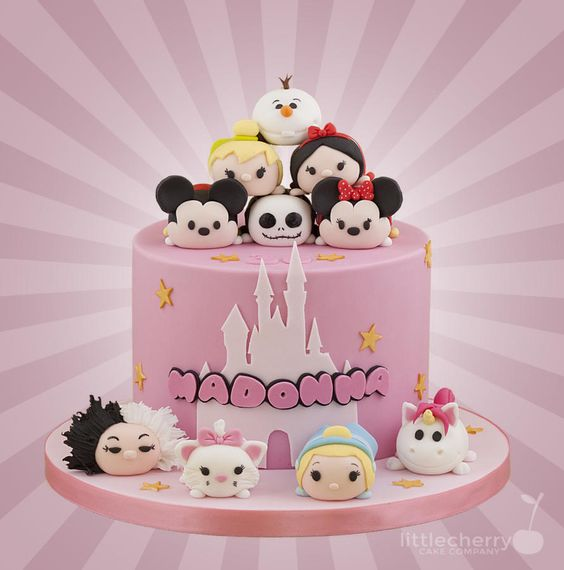 Tsum Tsum Cake Cake By Little Cherry SHeRLy Pinterest - Children's birthday parties rossendale