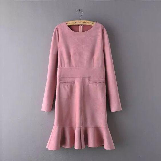 Cheapest Dresses 2015LadiesFashionComfortableThickDress Pinkhttp://www.clothing-dropship.com/2015-ladies-fashion-comfortable-thick-dress-pink-g2363919.html