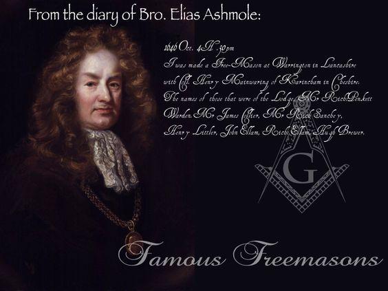 Famous Freemasons: Bro. Elias Ashmole | Freemasonry ...