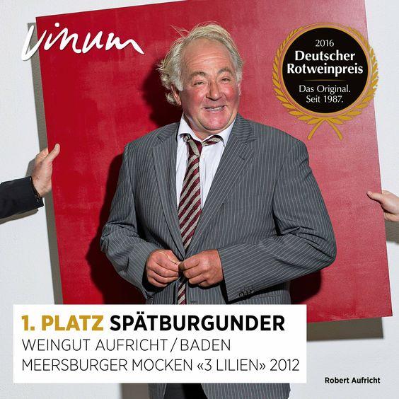 #DeutscherRotweinpreis 1. Platz Spätburgunder (2 Sieger): Meersburger Mocken «3 Lilien» Baden 2014, Weingut Aufricht, Meersburg-Stetten #Rotweinpreis #Deutscherwein